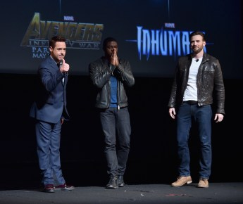 Marvel Studios October 2014 Fan Event Robert Downey Jr Chris Evans Chadwick Boseman
