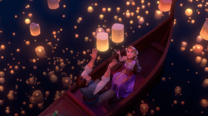Image result for rapunzel floating lanterns