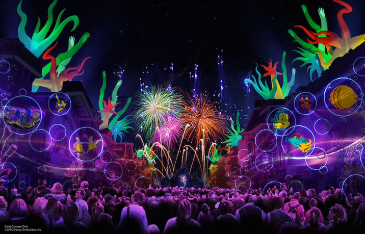 Disneyland 60 Diamond Celebration Forever Fireworks Concept Art