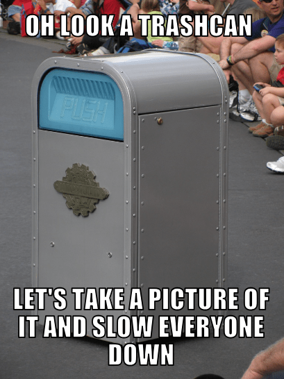 Things That Tourists Do At Disneyland Trash Can