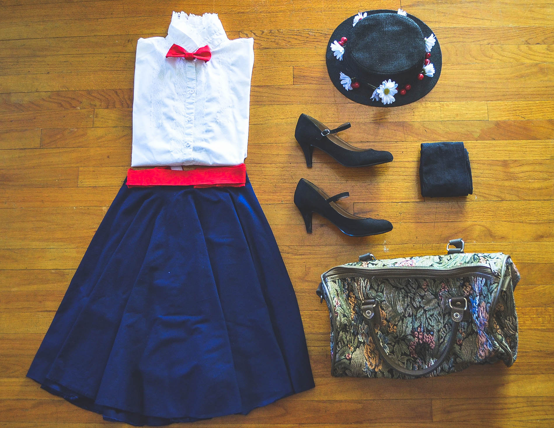 Dresses skirts clothes women disney store -  Looks And Dress Just Like Her Dinah Cardenas Shows Off Her Diy Disney Inspired Look That Is Described In One Word Supercalifragilisticexpialidocious