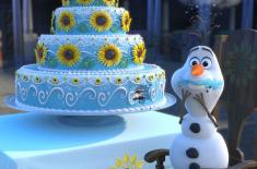 Disney Frozen Fever Animated Short Olaf Birthday Cake