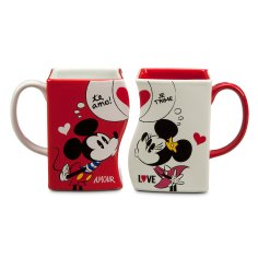 Mickey and Minnie Mouse Interlocking Mugs