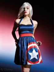 Marvel Avengers Age Of Ultron Her Universe Hot Topic Captain America Halter Dress