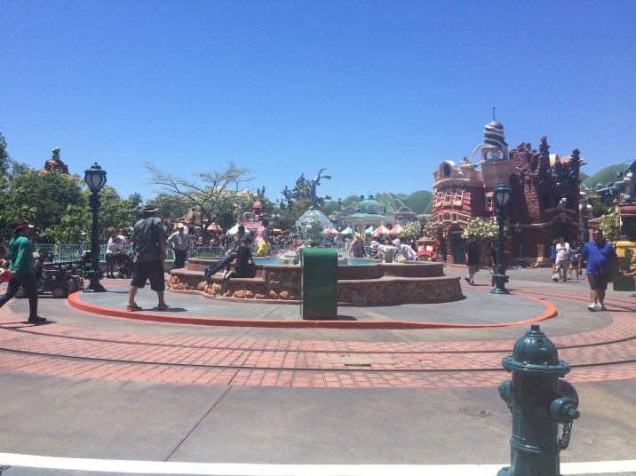 The view from the seat near the outlet