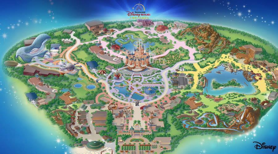 image regarding Printable Map of Disneyland named Shanghai Disney Vacation resort Disneyland Park Map Critique