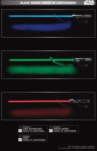 Black Series Force FX Lightsabers