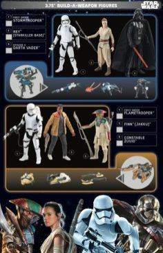 Star Wars Force Friday Build A Weapon Figures 2