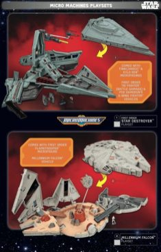 Star Wars Force Friday Micro Machines Playsets