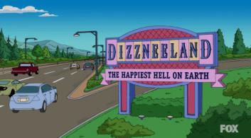 Dizzneeland The Simpsons Disneyland Parody