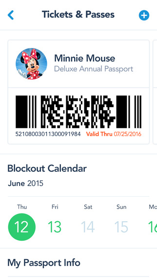 Official Disneyland App Annual Pass