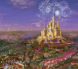 Shanghai Disney Resort Watercolor Concept Art Overview