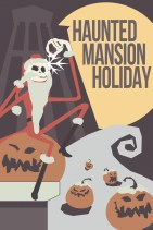 Disneyland Haunted Mansion Holiday Minimalist Poster Disneyexaminer Store