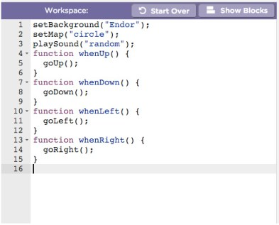 Star Wars Hour Of Code Script