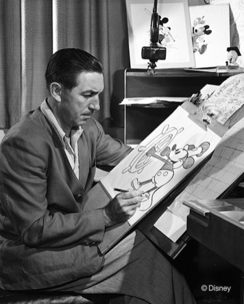 Walt Disney Drawing Mickey Mouse