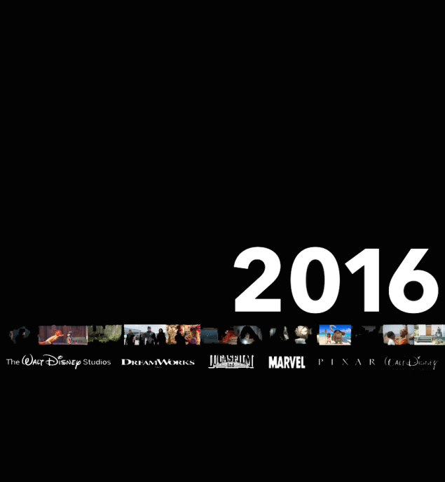 Walt Disney Studios 2016 Slate