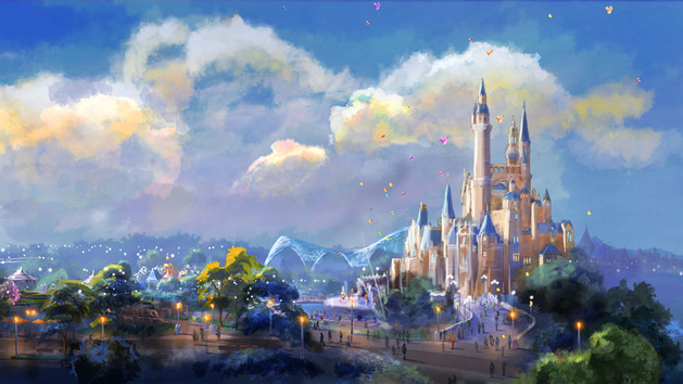 Shanghai Disney Resort Dine Royal Banquet Hall Concept Art