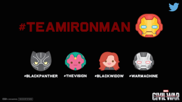 Teamironman Marvel Captain America Civil War Twitter Emojis