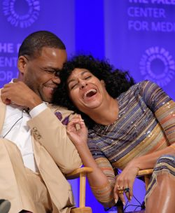 HOLLYWOOD, CA - MARCH 13: Anthony Anderson and Tracee Ellis Ross at PaleyFest LA 2016 honoring black-ish, presented by The Paley Center for Media, at the Dolby Theatre on March 13, 2016 in Hollywood, California. © Rob Latour for the Paley Center