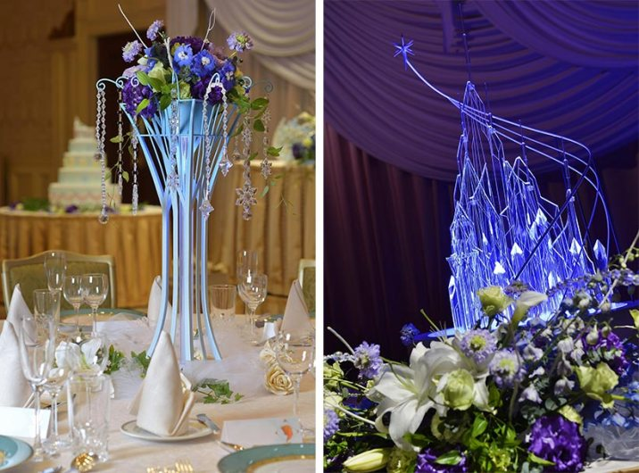Disney Themed Foezen Wedding Centerpiece