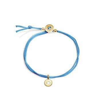 Mini Addition Blue Cord Bracelet in 14 kt Yellow Gold (c) Alex Woo