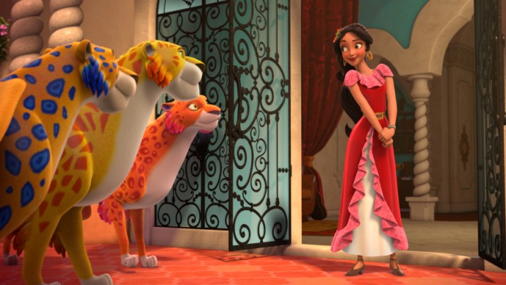 """ELENA OF AVALOR - """"First Day of Rule"""" - Elena officially becomes crown princess and rescues her sister, Isabel, from Noblins, elf-like shapeshifting creatures based on a Chilean peuchen myth. (Disney Channel) SKYLAR, MIGS, LUNA, ELENA"""