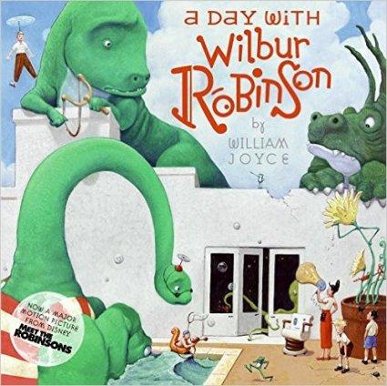 https://www.amazon.com/Day-Wilbur-Robinson-William-Joyce/dp/0060890983/ref=sr_1_1?ie=UTF8&qid=1470290884&sr=8-1&keywords=a+day+with+wilbur+robinson