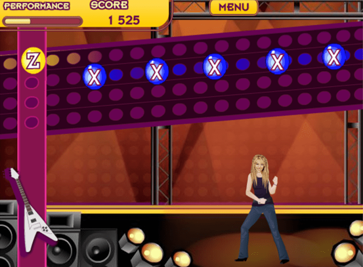 Disney Channel Online Game Jammin' with Hannah Montana