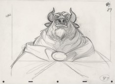 Beauty and the Beast 25th Anniversary Blu Ray DVD Digital HD Set Beast Sketch Concept Art