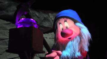 Audio Animatronic Seven Dwarfs Mine Train Sleepy