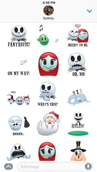 As Told By Emoji The Nightmare Before Christmas Tim Burton Sticker Pack
