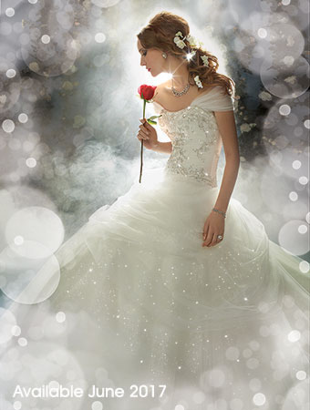 Belle Beauty and the Beast Rose Wedding Dress Alfred Angelo Spring ...