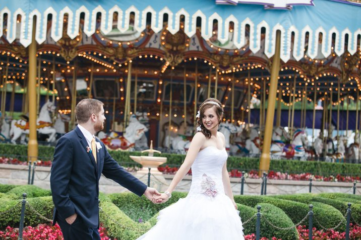 Ben and Kerry Leikin Fairytale Dream Disneyland Wedding Disney's Fairytale Weddings and Honeymoons Kleenex Someone Needs One Carousel