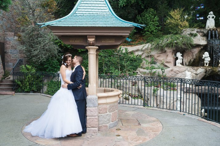 Ben and Kerry Leikin Fairytale Dream Disneyland Wedding Disney's Fairytale Weddings and Honeymoons Kleenex Someone Needs One Snow White's Wishing Well