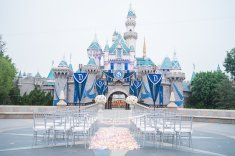 Ben and Kerry Leikin Fairytale Dream Disneyland Wedding Disney's Fairytale Weddings and Honeymoons Kleenex Someone Needs One Sleeping Beauty's Castle 2