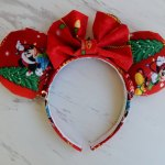 Christmas Mickey Mouse and Minnie Mouse Customizable Handmande DIY Ears Etsy AnniesFairytaleBows