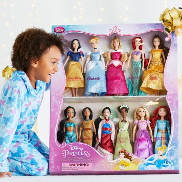 "Disney Holiday Season Shopping Black Friday Gift Ideas 2016 Disney Princess Classic Doll Collection Gift Set 12"""