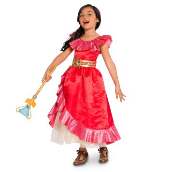 Disney Holiday Season Shopping Black Friday Gift Ideas 2016 Elena of Avalor Costume Collection for Kids Scepter Costume Shoes Jewelry Set