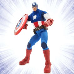 "Disney Holiday Season Shopping Black Friday Gift Ideas 2016 Marvel Ultimate Series Captain America Premium Action Figure 11 1/2"""