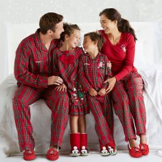 Disney Holiday Season Shopping Black Friday Gift Ideas 2016 Mickey Mouse and Friends Family Plaid Sleepwear Collection Pajamas