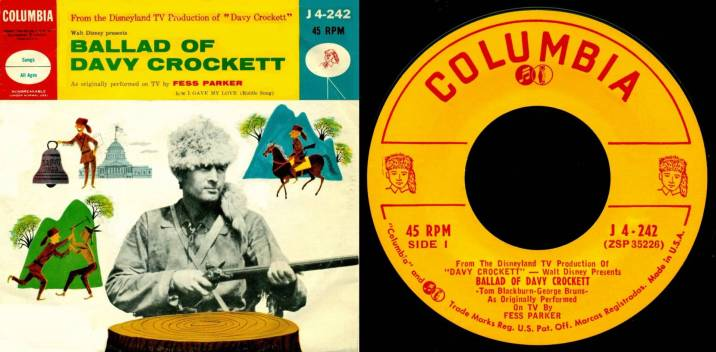 The Ballad of Davy Crockett Vinyl Cover Walt Disney Records Music