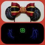 Tower of Terror Disneyland Minnie Mouse Customizable Handmande DIY Ears Etsy Earsboutique Glow in the Dark