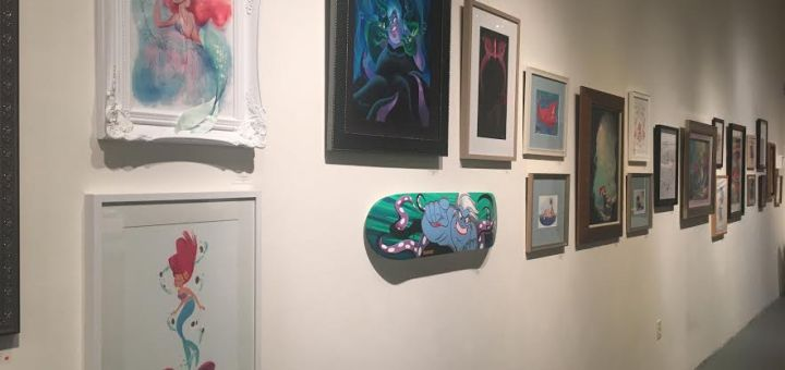 Gallery Nucleus Art Exhibit An Art Tribute to the Disney Films of Ron Clements & John Musker The Little Mermaid Ariel Ursula Paintings