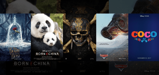 Beauty and the Beast Born in China Pirates of the Caribbean 5 Dead Men Tell No Tales Cars 3 Coco Pixar Posters