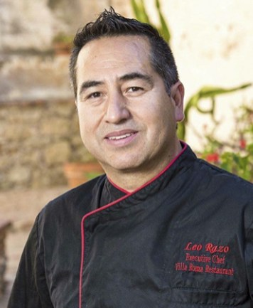 Leo Razo Villa Roma Chef OC Chef's Table Portrait