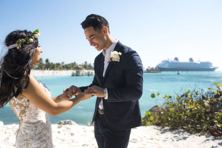 Disney Fairy Tale Weddings Freeform Disney Cruise Wedding Carolina Isaiah
