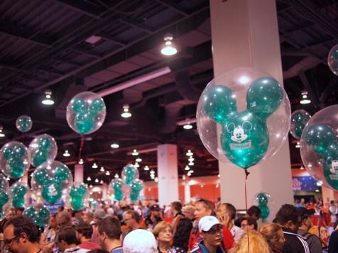Green Mickey Balloons D23 Expo 2017 DisneyExaminer