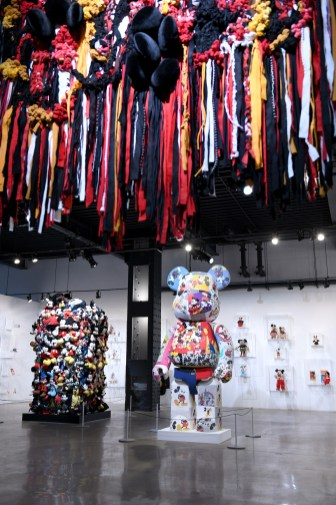 NEW YORK, NY - NOVEMBER 05: Art by Tanya Aguiniga, Shinique Smith, and DRx Romanelli. Mickey: The True Original Exhibition celebrates 90 years of Mickey Mouse's influence on art and pop culture. Opening November 8, 2018 through February 10, 2019, this immersive experience is inspired by Mickey's status as a 'true original' and his consistent impact on the arts and creativity in all its forms. Guests will have the chance to explore the 16,000 square-foot exhibition featuring both historic and contemporary work from renowned artists. The exclusive pop-up retail shop carries special merchandise and offers customization. (Photo by Craig Barritt/Getty Images for Disney)