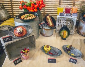 Some of the food items that can be devoured at Black Spire Outpost. Photo by Mark Eades.