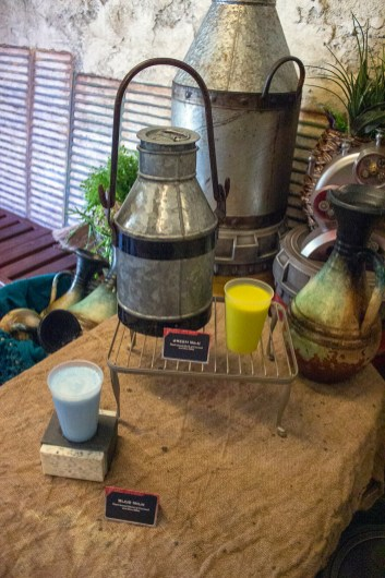 The Blue Milk and the Green Milk available to quench one's thirst on sale at Black Spire Outpost. Photo by Mark Eades.